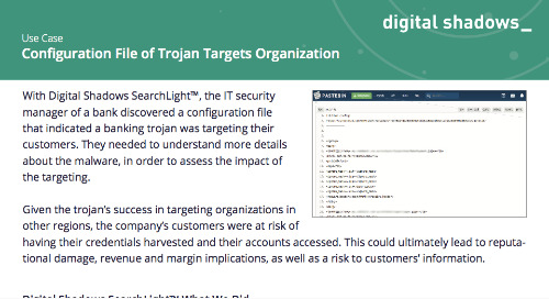 Configuration File of Trojan Targets Organization