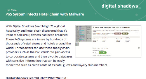 PoS System Infects Hotel Chain with Malware