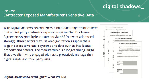 Contractor Exposed Manufacturer's Sensitive Data