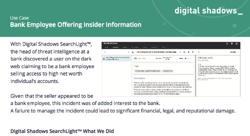 Bank Employee Offering Insider Information