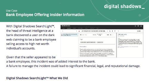 Bank Employee Offering Insider Information