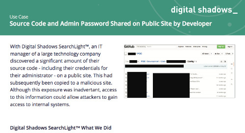 Source Code and Admin Password Shared on Public Site by Developer