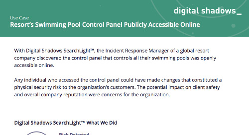 Resort's Swimming Pool Control Panel Publicly Accessible Online