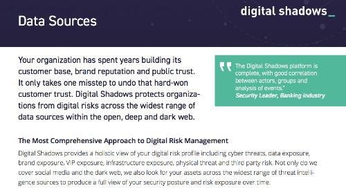 Digital Shadows Data Sources