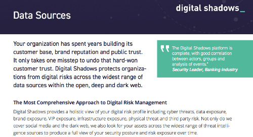 Digital Shadows Data Sources