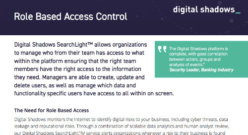 Digital Shadows Role Based Access Control