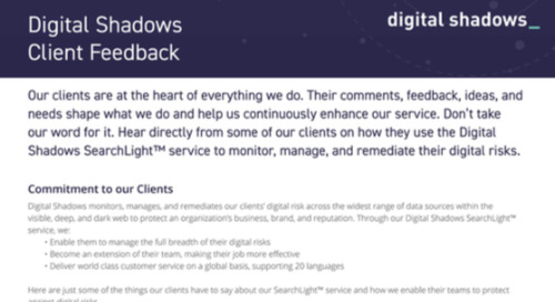 Digital Shadows Customer Quotes