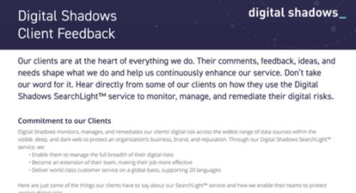 Digital Shadows Customer Quotes