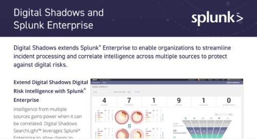 Digital Shadows Splunk Integration Datasheet