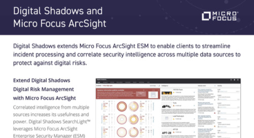 Digital Shadows ArcSight MicroFocus Integration Datasheet