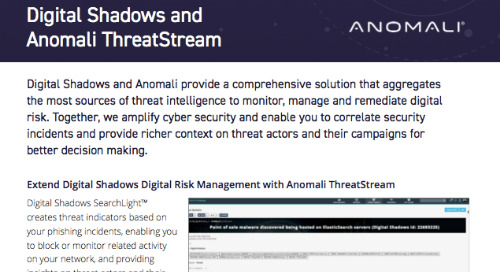 Digital Shadows Anomali Integration Datasheet