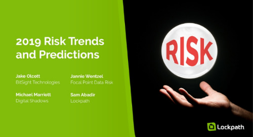 Live Webinar: 2019 Risk Trends Predictions