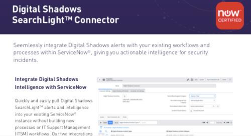 Digital Shadows ServiceNow Integration Datasheet