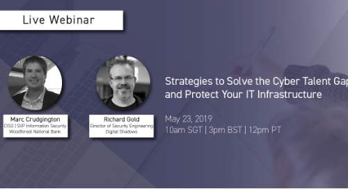 Live Webinar: Strategies to Solve the Cyber Talent Gap and Protect Your IT Infrastructure