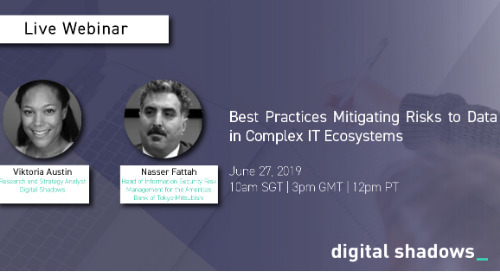 Live Webinar June 27: Best Practices Mitigating Risks to Data in Complex IT Ecosystems
