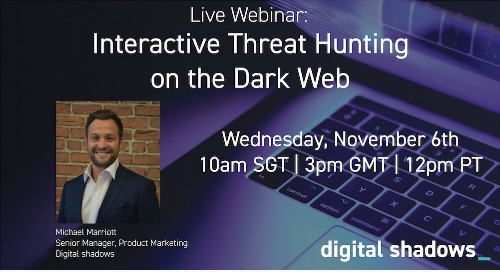 Interactive Threat Hunting on the Dark Web - Live Webinar Workshop