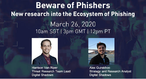 Live Webinar Mar 26: Beware of Phishers - New Research into the Ecosystem of Phishing