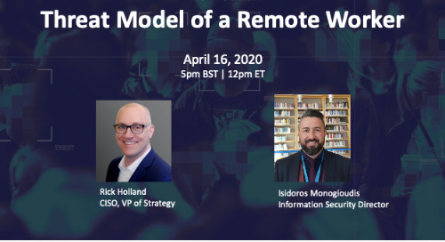 Live Webinar Apr 16: Threat Model of a Remote Worker
