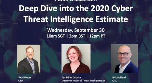 Live Panel Discussion: Deep Dive into the 2020 Cyber Threat Intelligence Estimate
