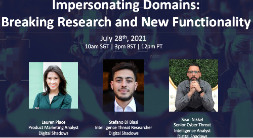 Live Webinar: Impersonating Domains: Breaking Research and New Functionality