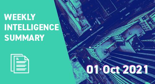 Weekly Intelligence Summary 1st Oct