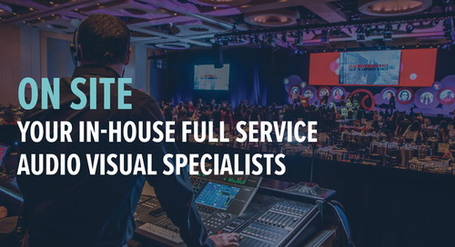 In-house AV services for hotels, convention centers and resorts