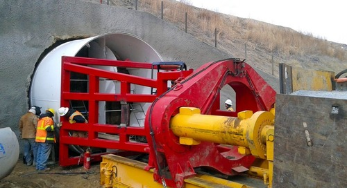 Trenchless technologies, method 4: Pipe ramming