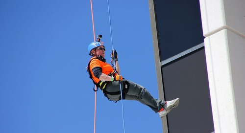 "Going ""Over the Edge"" for the Girl Scouts of America"