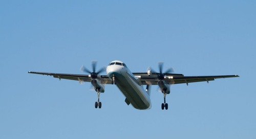 Helping airports design taxiways to accommodate the Bombardier Q400