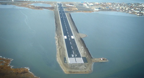How long is an airport's runway?