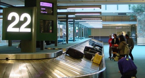 What happens to your luggage when it goes behind the counter?