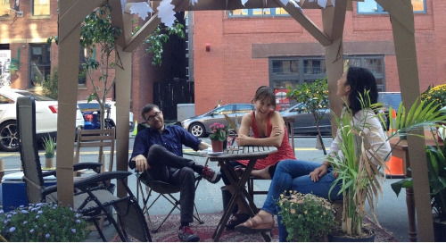 "Using ""parklets"" to show the importance of public space"