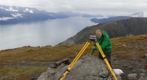 Geomatics is shrinking Alaska's mountains