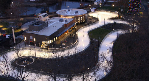 Spokane's new ice ribbon helps park slide into its next era—a year-round destination