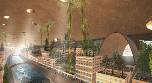 From the Design Quarterly: Creating the Red Planet city