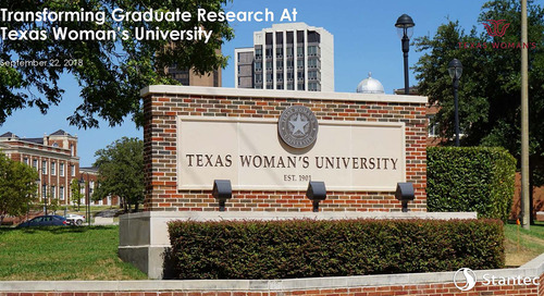Free Download: 2018 TCUF Presentation - Transforming Graduate Research at Texas Woman's University