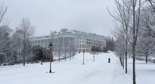 The charms and challenges of working on Mackinac Island include winter and water