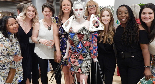 Fierce and fashionable: Designers turn commercial interiors materials into wearable art