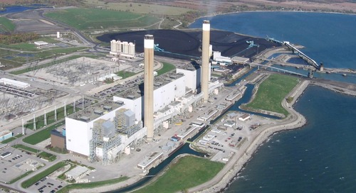 Transforming a coal-fired power plant into a solar facility