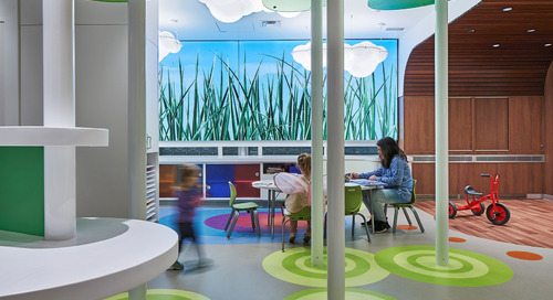 Grounded art: Flooring in healthcare spaces increases in creativity and impact