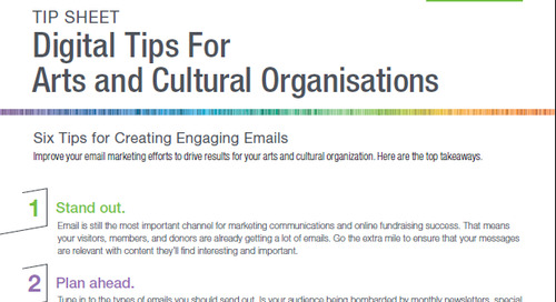 Tipsheet: 6 Tips for Email Marketing in Arts and Cultural Organisations