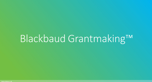 Product Tour: Blackbaud Grantmaking with SKY View