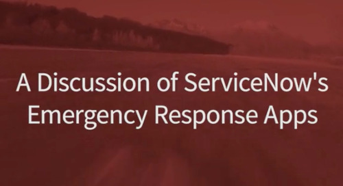 Friday Fast Fifteen - A Discussion of ServiceNow's Emergency Response Apps