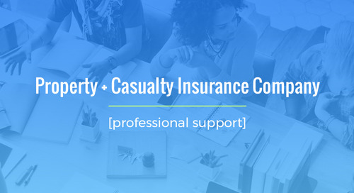 Time-Sensitive Staffing For Property/Casualty Insurance Company