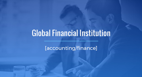 High-Level, Specialized Recruitment Project For Global Financial Institution (Internal Audit)