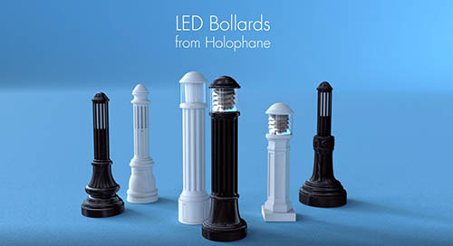 New Holophane LED Bollards video