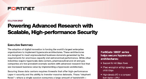 Powering Advanced Research with Scalable, High-performance Security