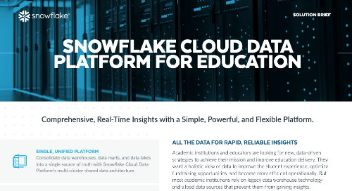 The Cloud Data Platform for Education