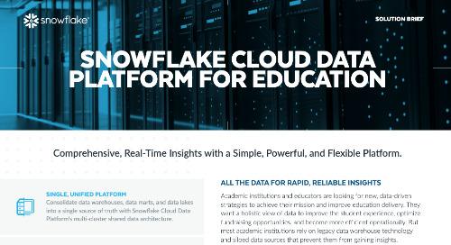 The Cloud Data Platform for Education