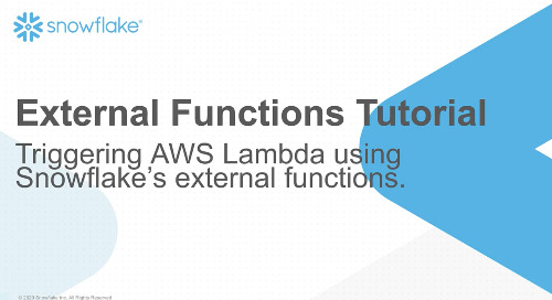 External Functions Tutorial